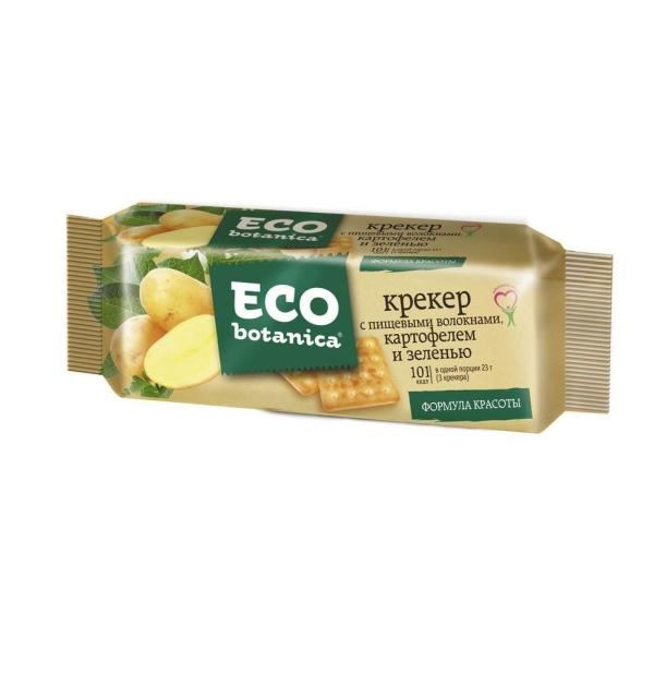 Крекер Eco botanica пищевые волокна картофель зелень