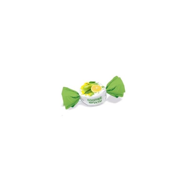 Конфеты Конти Озорные фрукты вкус яблоко-лимон