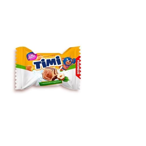 Конфеты вафельные Конти Тими с молоком и орехами
