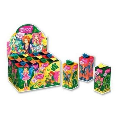 Жевательный мармелад + игрушка Феи-4  Elexi Fresh Toys