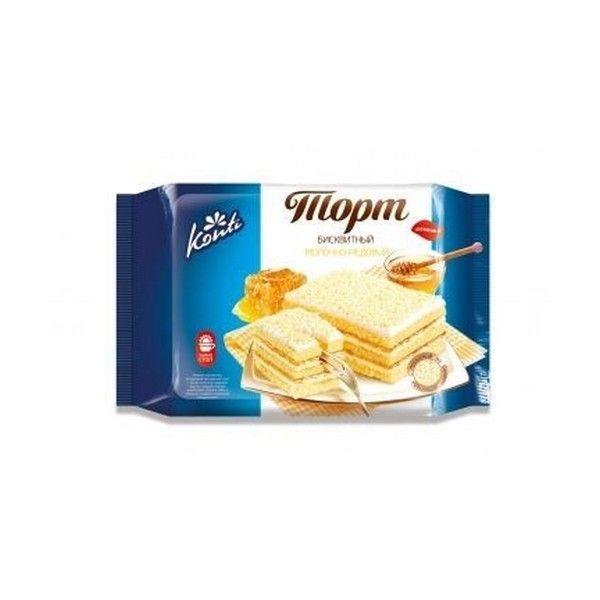 Торт бисквитный Конти молочно-медовый