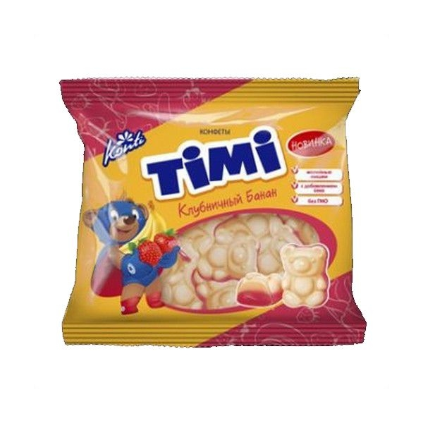 Конфеты Конти Тими клубничный банан