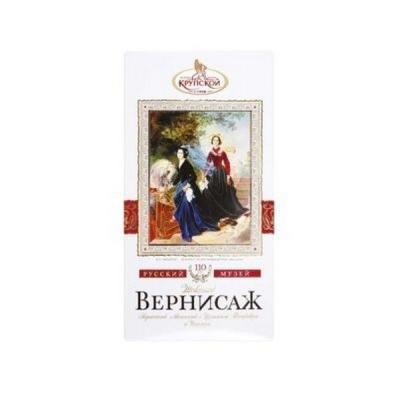 Шоколад Славянка Вернисаж пористый молочный с фундуком и изюмом