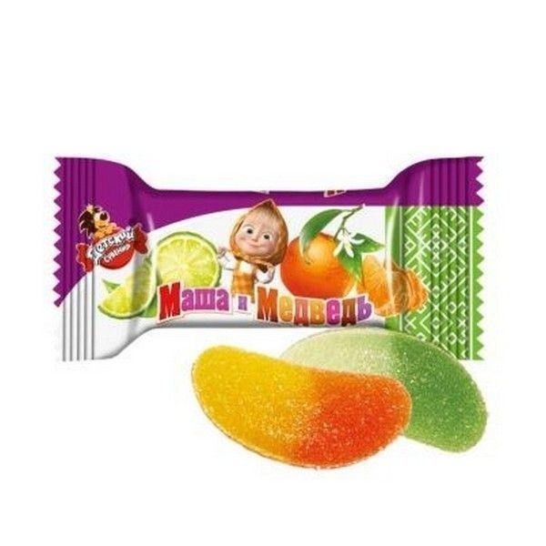Конфеты Славянка Детский сувенир желе со вкусом лайма  и мандарина
