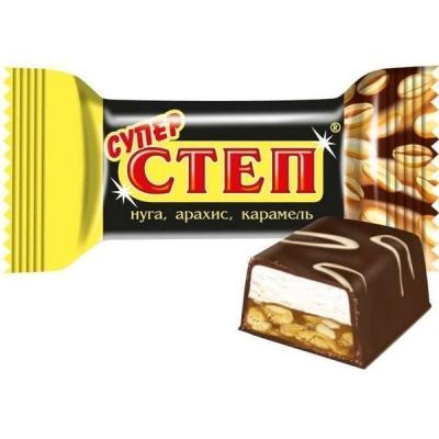 Конфеты Славянка Супер Степ нуга арахис карамель