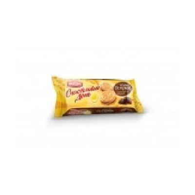 Печенье Сладко Счастливый день сахарное с шоколадной начинкой