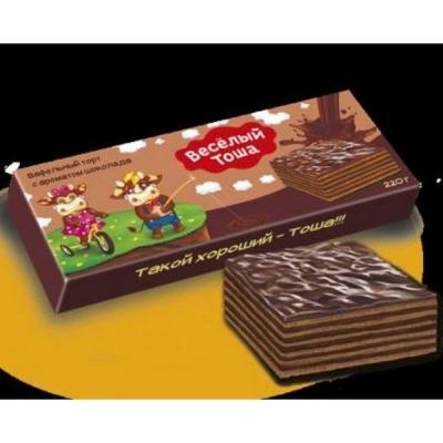 Вафельный торт Веселый Тоша с ароматом шоколада