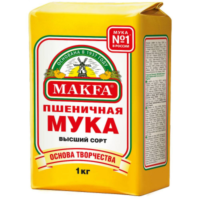 Мука пшеничная в/с Макфа