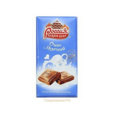 Шоколад Россия Щедрая Душа Молочный