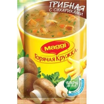 Суп Магги Горячая кружка грибная с сухариками