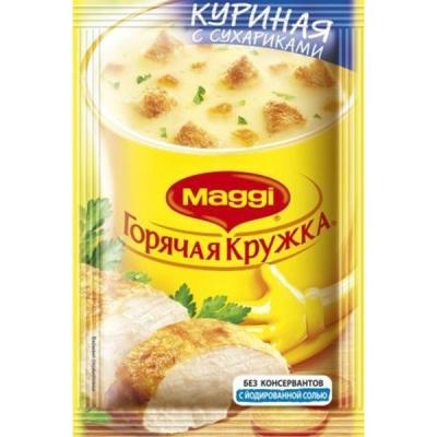 Суп Магги Горячая кружка куриный с сухариками