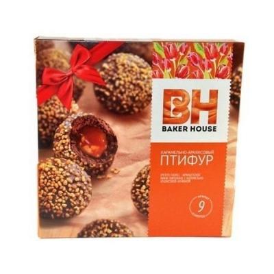 Мини-пирожные Раменский Шоколадный Птифур карамель с арахисом французские