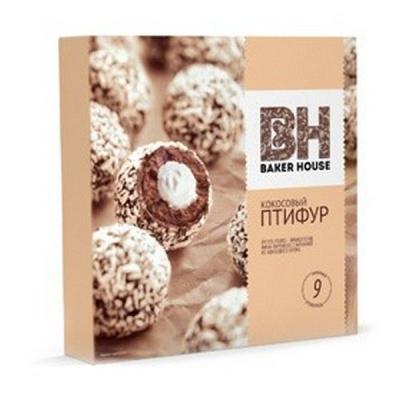 Мини-пирожные Раменский Шоколадный Птифур с кокосовым кремом