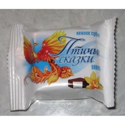 Конфеты Слада Нежное суфле Птичьи Сказки вкус Ванили в кондитерской глазури