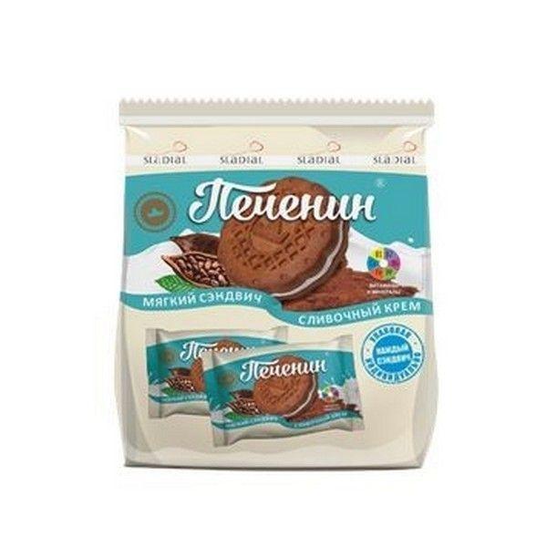 Печенье Сладиал Печенин сахарное сливочный крем