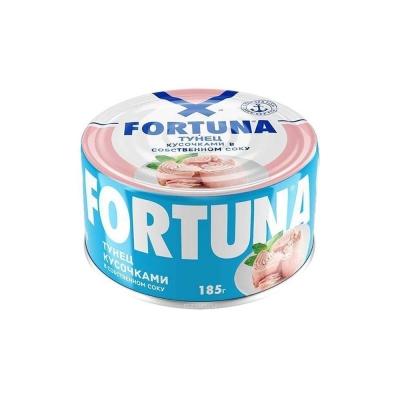 Тунец кусочками Fortuna в собственном соку