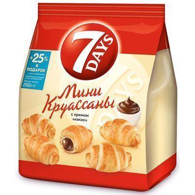 Круассаны мини 7DAYS с кремом какао