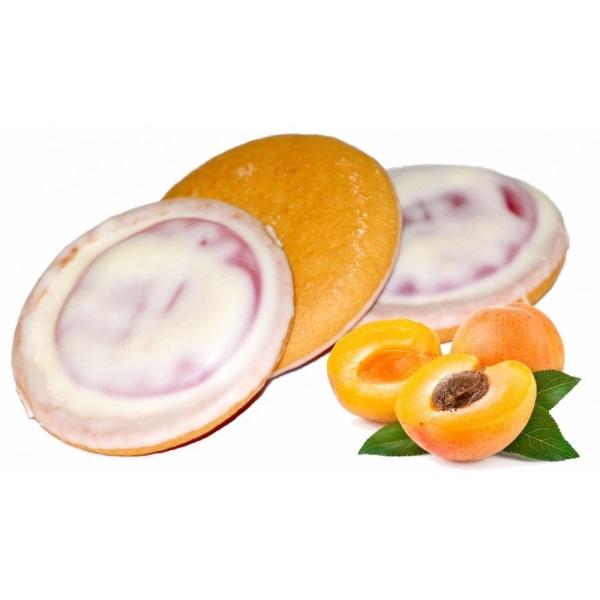 Печенье бисквитное Кико Абрикос в белой глазури