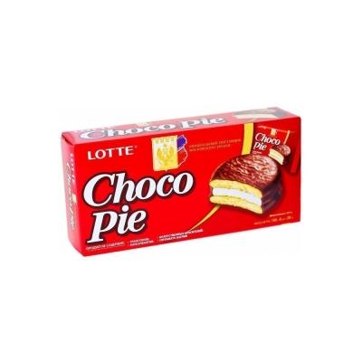 Печенье Лотте Чоко Пай прослоенное глазированное