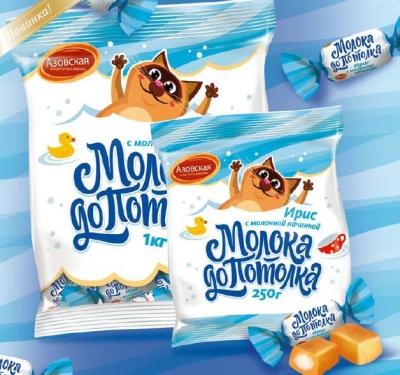 Ирис молочный Азовская кондитерская фабрика Молока до потолка с начинкой