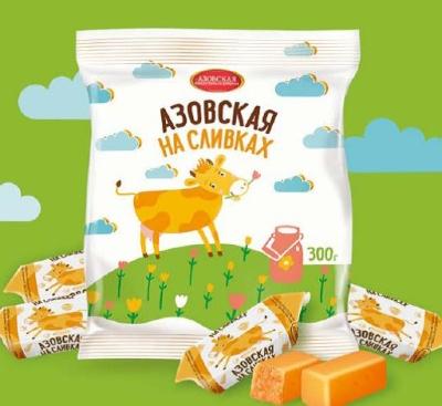 Конфеты молочные Азовская на сливках