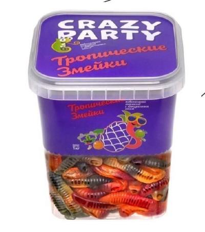 Мармелад жевательный Азовская кондитерская фабрика Тропические змейки