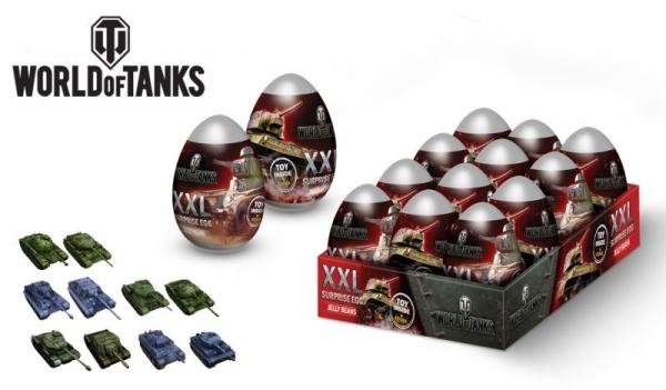 Мармелад WORLD OF TANKS XXL + игрушка в яйце пластиковом