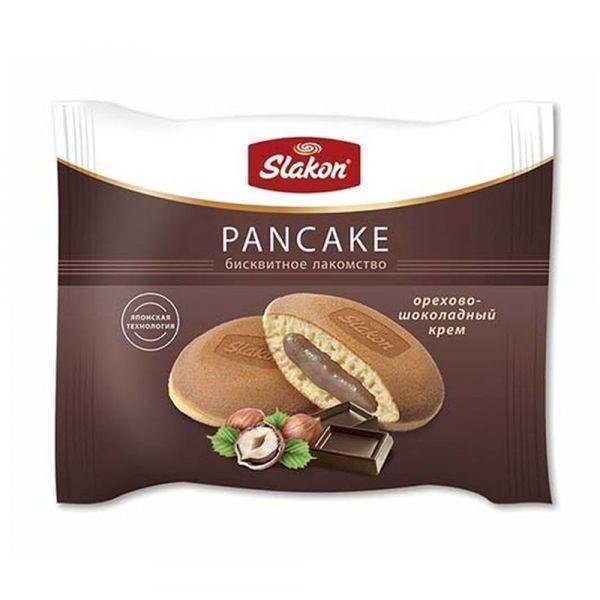 Панкейки (оладьи) Слакон с орехово-шоколадной начинкой индивидуальная упаковка