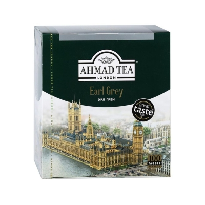 Чай черный Ahmad Tea Earl Grey Tea 100 пак.