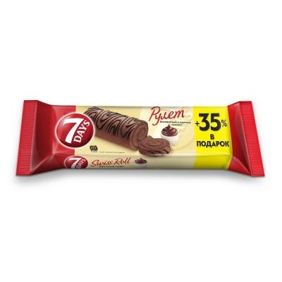 Рулет бисквитный 7DAYS с кремом какао