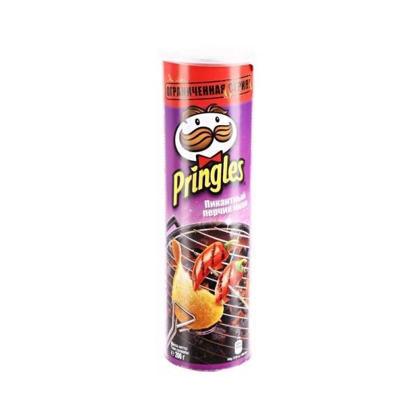 Чипсы картофельные Принглс со вкусом пикантного перчика чили