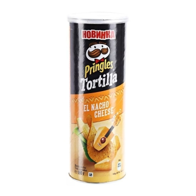 Чипсы кукурузные Принглс Tortilla со вкусом сыра начо El Nacho Cheese