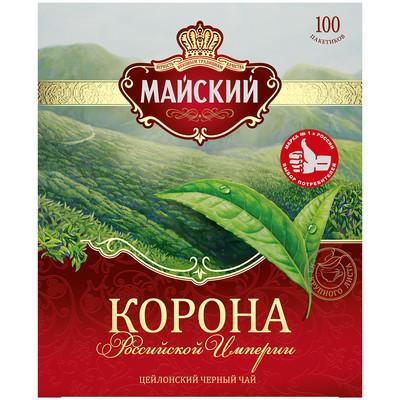Чай черный Майский Корона Российской Империи 100 пак.