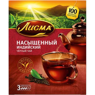Чай черный Лисма насыщенный (3 уровень крепости) 100 пак.