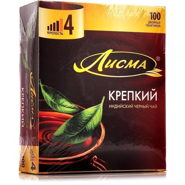 Чай черный Лисма крепкий (4 уровень крепости) 100 пак.