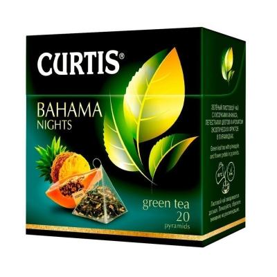 Чай зеленый Curtis Bahama nights 20 пирамидок