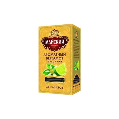 Чай черный Майский Ароматный бергамот 25 сашетов