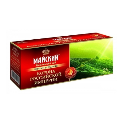 Чай черный Майский Корона Российской Империи 25 пак.