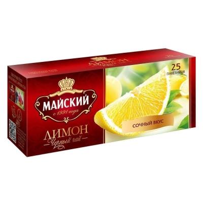 Чай черный Майский лимон 25 пак.