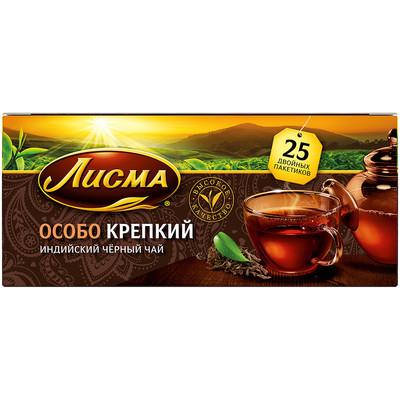 Чай черный Лисма особо крепкий (5 уровень крепости) 25 пак.
