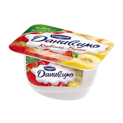 Десерт творожный Даниссимо Клубника-банан
