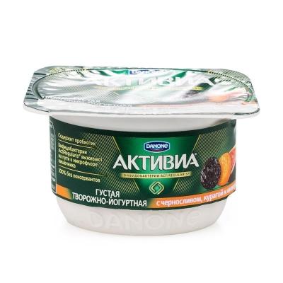 Йогурт Активиа творожный инжир, курага, чернослив