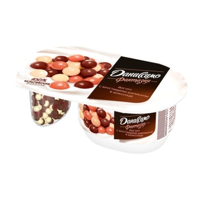 Йогурт Даниссимо Фантазия хрустящие шарики в шоколаде