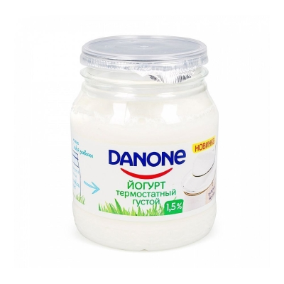 Йогурт Данон термостатный густой 1,5%