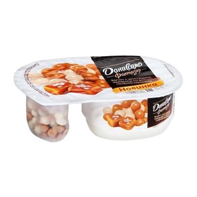 Йогурт Фантазия Даниссимо с хрустящими шариками со вкусом солёной карамели