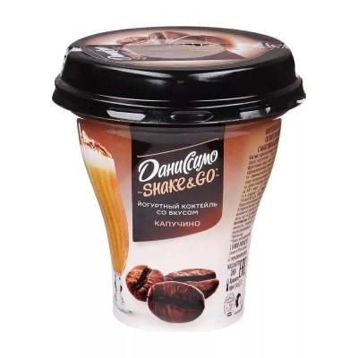 Коктейль йогуртный Даниссимо со вкусом Капучино 5,2%
