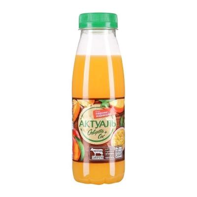 Напиток Актуаль на сыворотке вкус Персик-Маракуйя