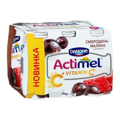 Продукт кисломолочный Actimel Смородина-Малина 2,5%