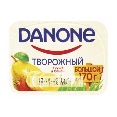 Творожок Данон груша-банан