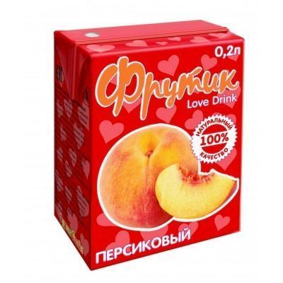 Сок Фрутик со вкусом персика